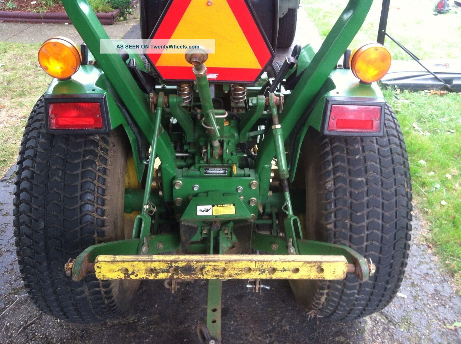 John Deere 770 Diesel Tractor With 60inch Mower Deck