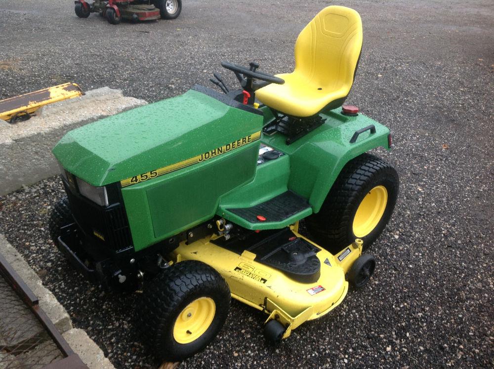John Deere 455 Lawn Tractor 60 Deck - Used   eBay