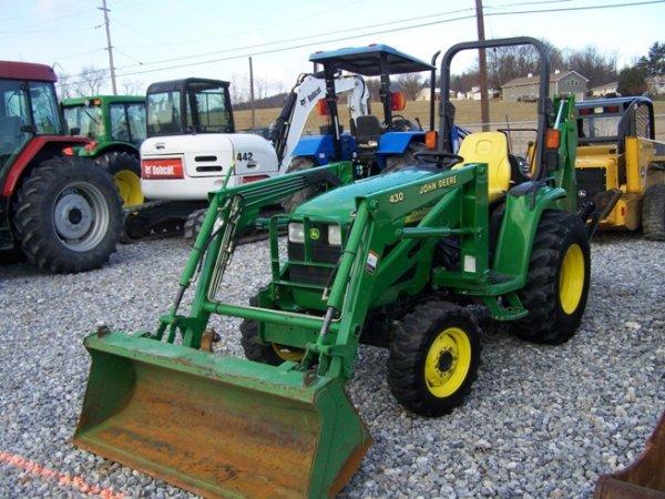 240: John Deere 4310 4x4 Compact Tractor Loader Backhoe ...