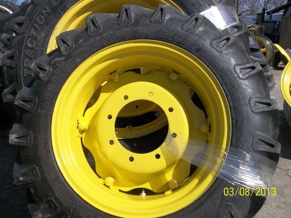 JOHN DEERE 5055E TWO 9.5x24 Tires on Rims w/Centers | eBay