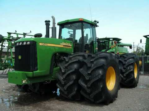 John Deere 9520 with 35 inch tires - YouTube