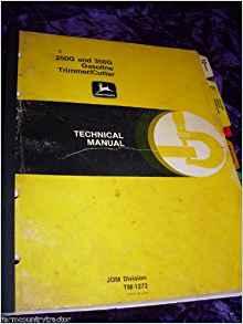 John Deere 250G/350G Trimmer Cutter OEM Service Manual ...