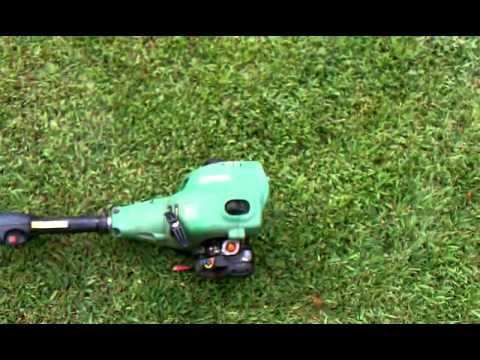 John Deere S1400 trimmer - YouTube