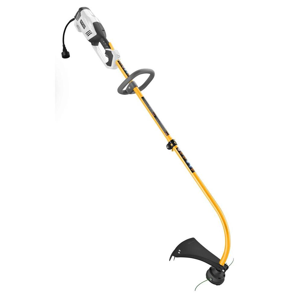 Ryobi 17 in. 10 Amp Electric Curved Shaft String Trimmer ...
