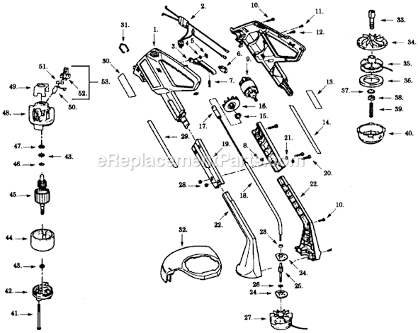 Weed Eater 1000 Parts List and Diagram : eReplacementParts.com