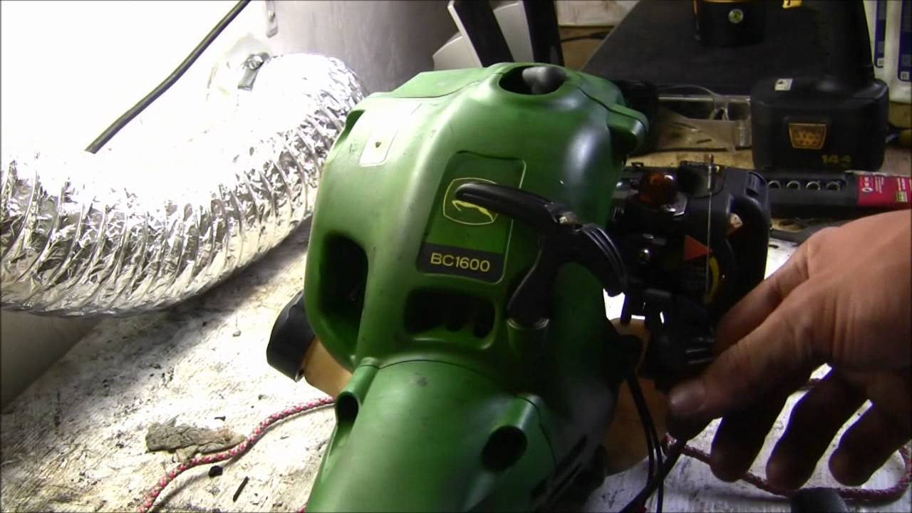 How to Restring pull rope on John Deere BC1600/C1200 ...