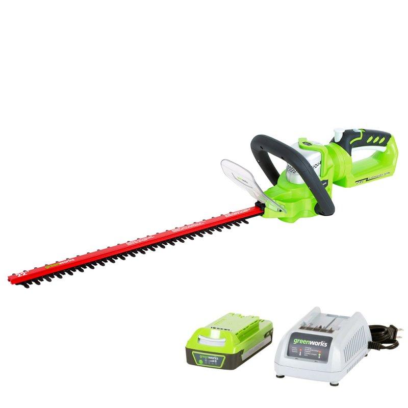 24V Rotating Hedge Trimmer - Greenworks