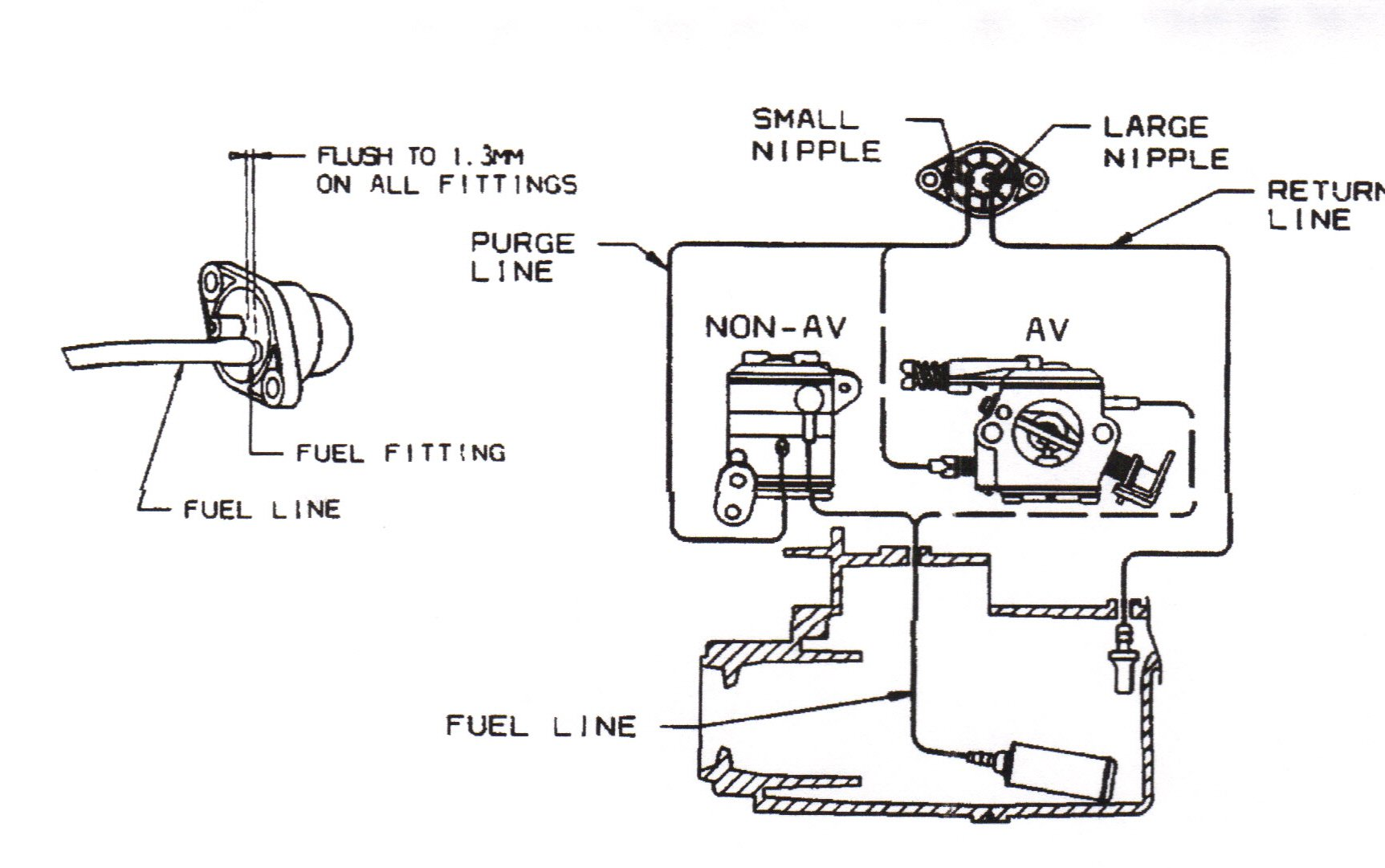 replace fuel lines on 110g john deere trimmer
