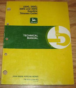 John Deere 220G 250G 300G 350G Gas Trimmer Cutter ...