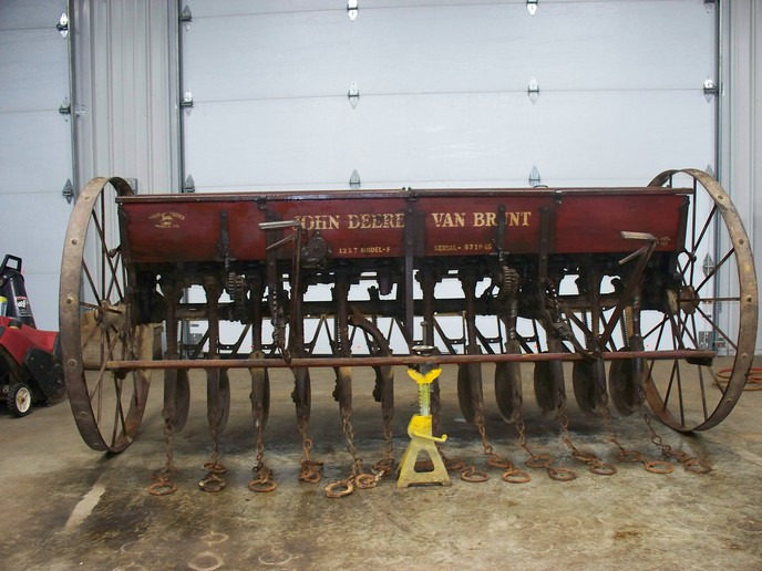 deere van brunt grain drill - John Deere