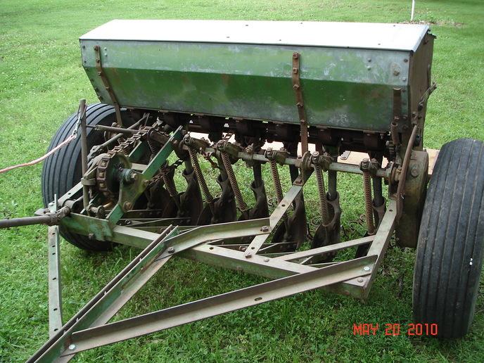 John Van Brunt grain drill rate adjustment ...