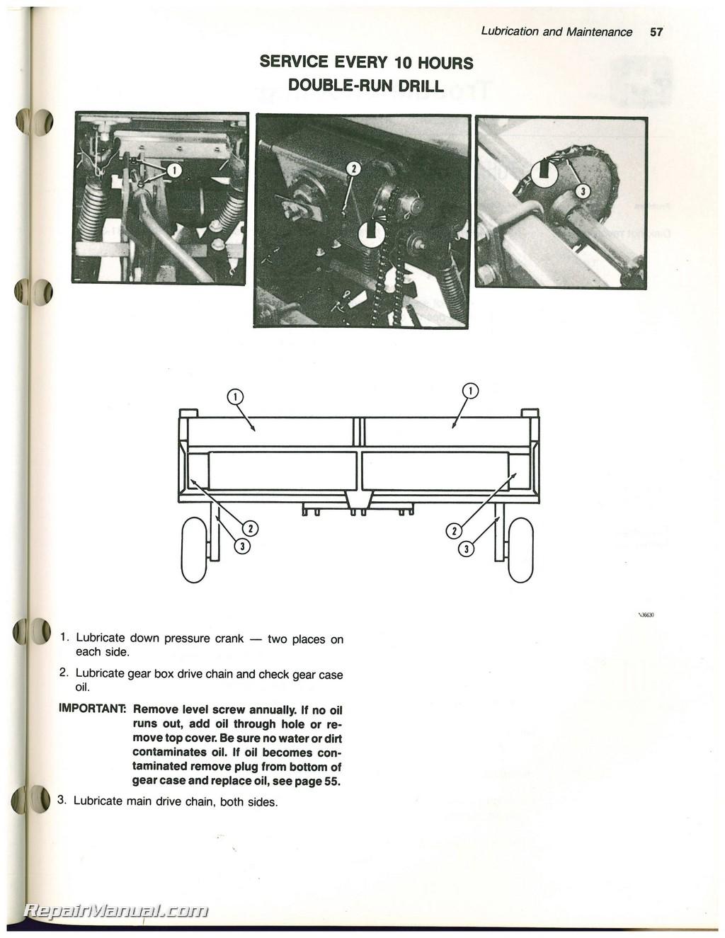 John Deere 515 Integral Grain Drill Operators Manual