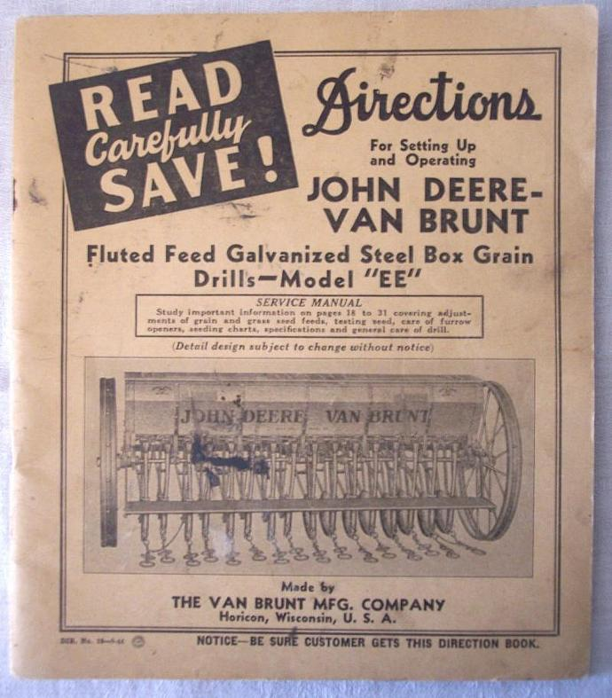 John Deere Van Brunt Model EE Grain | SandyCreekCollectables