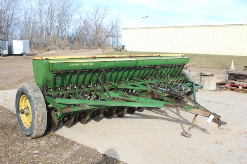 John Deere 13FT Grain Drill with Grass Seed,