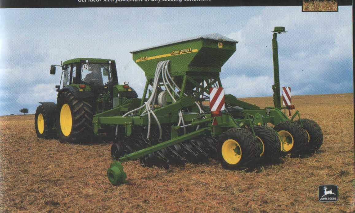 John Deere Seed Drills 740A & 750A Brochure