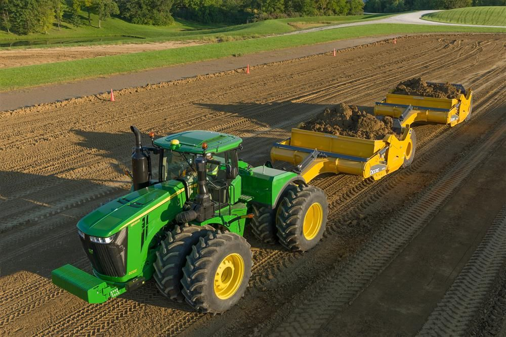 John Deere Scraper Tractors Boast More Power, Productivity ...