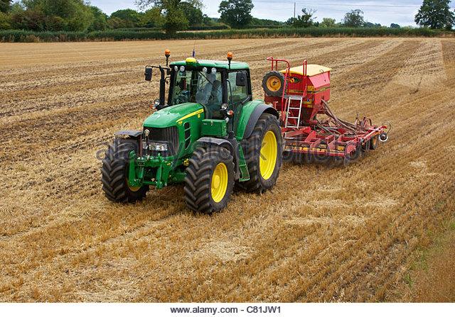 John Deere Tractor Seed Drill Stock Photos & John Deere ...