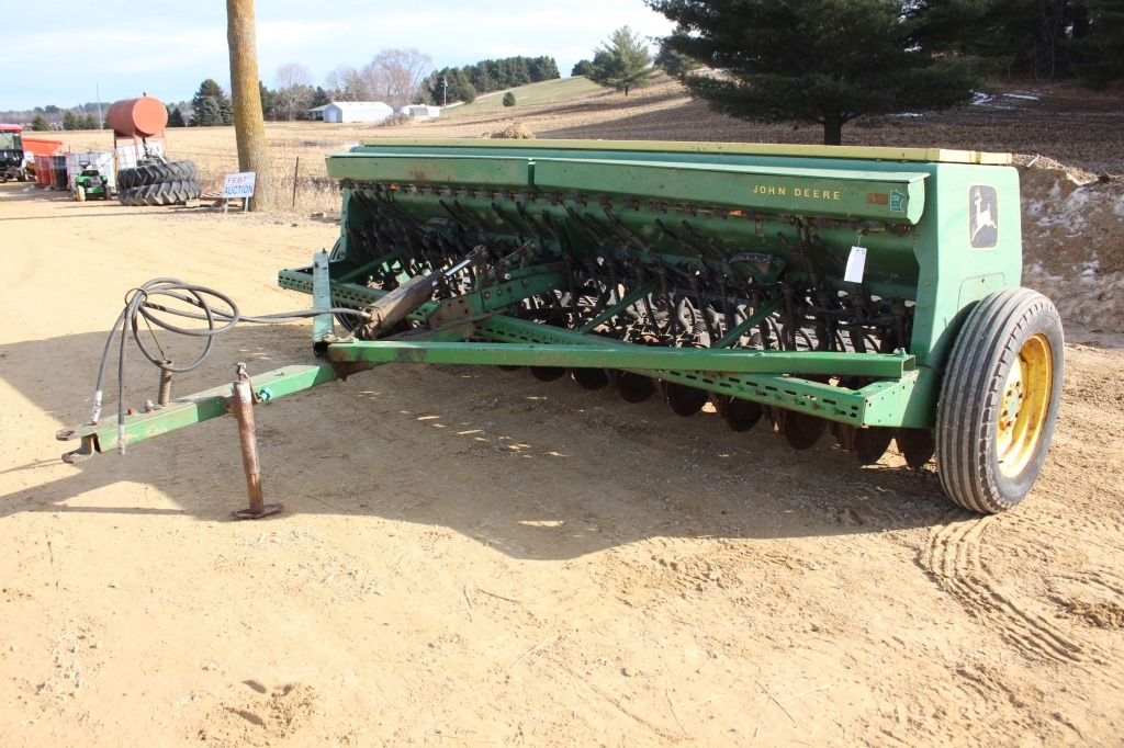 JOHN DEERE 8300 GRAIN DRILL WITH GRASS SEED BOXES