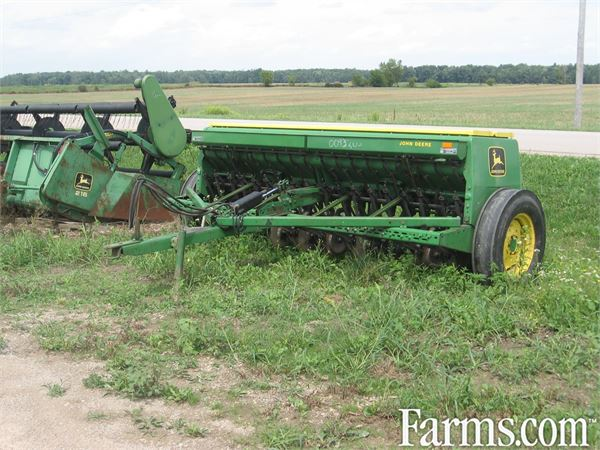 John Deere 8350 seed drill, double disc, grass, fert ...