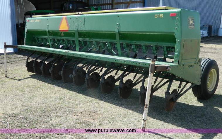 John Deere 515 grain drill | no-reserve auction on ...