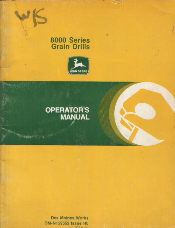 John Deere Grain Drill 8000 Series Operators Manual