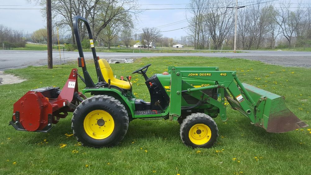 JD 4100 Compact Tractor With JD 410 Loader And Brand New ...