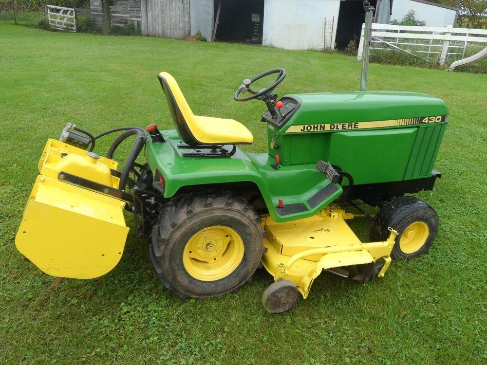 John Deere 430 Garden Tractor and Tiller   eBay