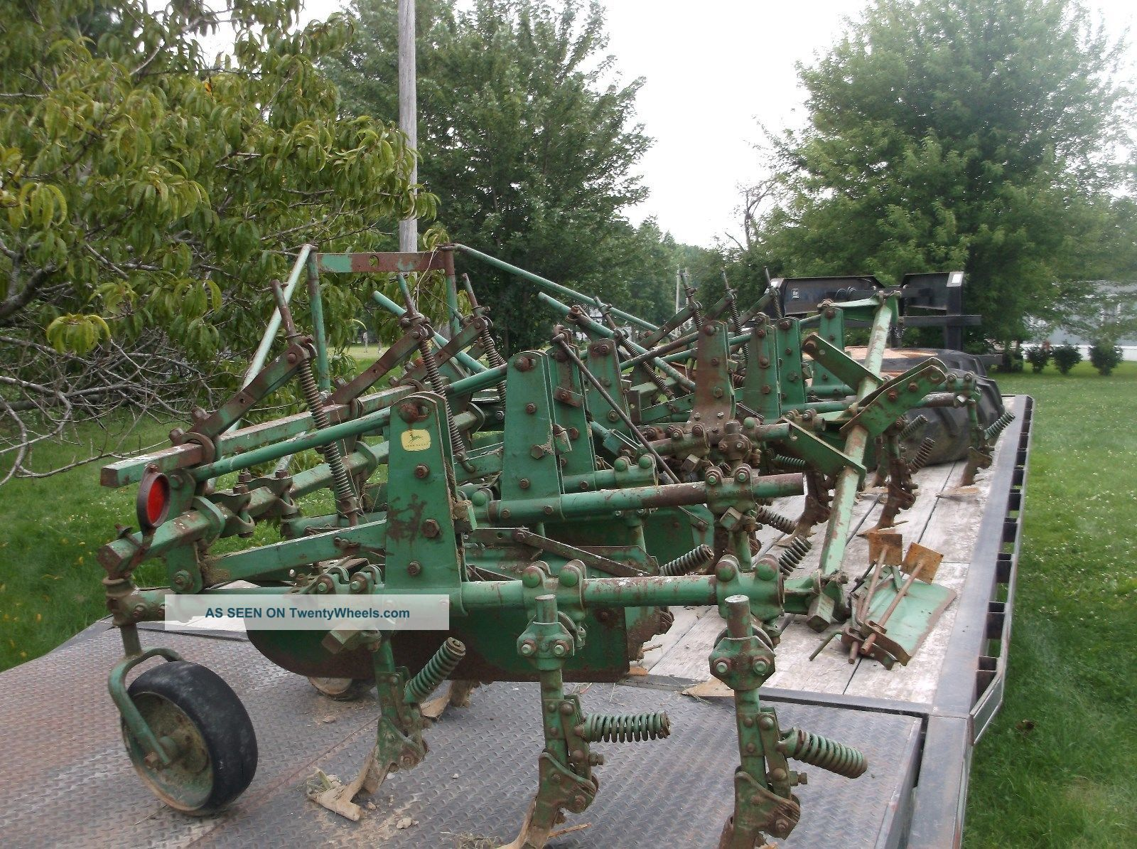 John Deere 4row Cultivator For 60 Or 70 Antique Good Shape