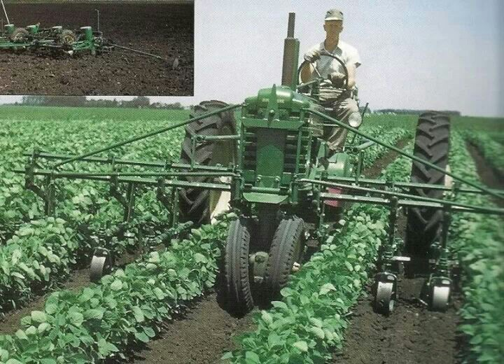 John Deere B with front mount row cultivator   Old Farm ...