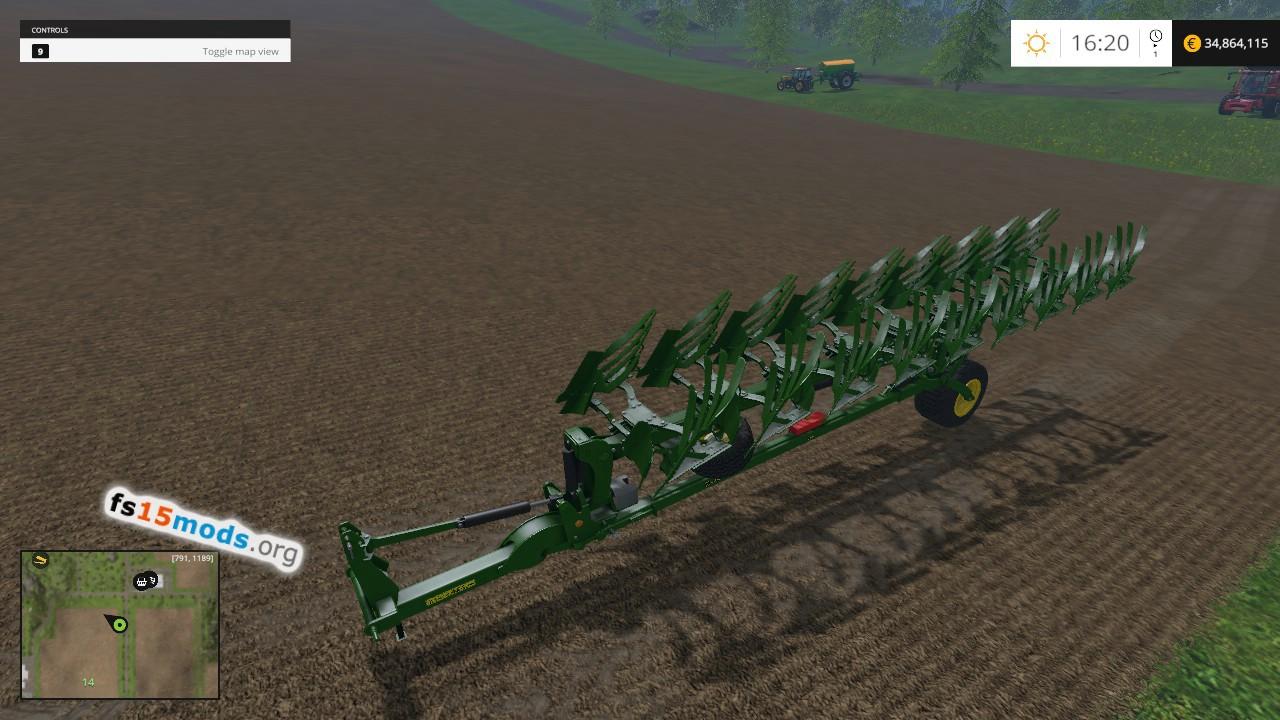John Deere 1208 plough | FS15 Mods