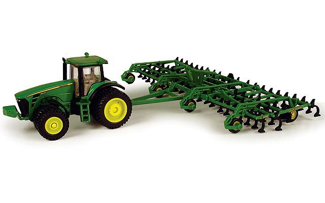 John Deere 8430 tractor with duals and John Deere 2200 ...