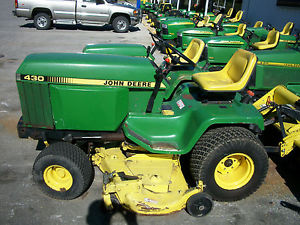 John Deere 430 Garden Tractor with Rear Tiller and 60 inch ...