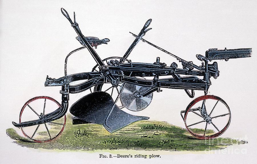 when was john deere's riding plow