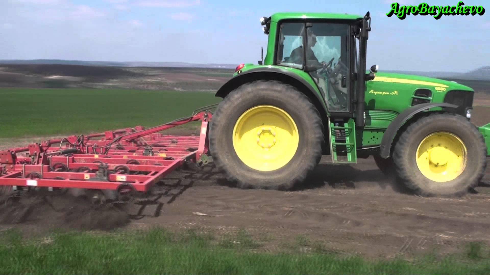 John Deere 6930 Premium + Cultivator 7,20m - YouTube