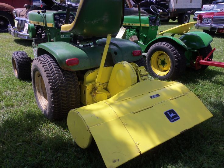 140 with yellow John Deere roto tiller | John Deere ...