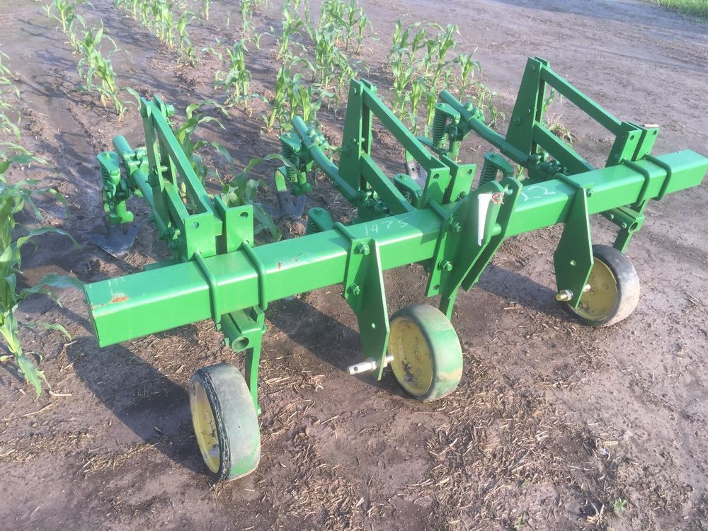 JOHN DEERE 2 ROW CROP FIELD GARDEN FOOD PLOT CULTIVATOR 3 ...