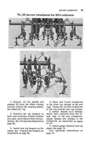 John Deere RG Series Row-Crop Cultivators - Operator's Manual