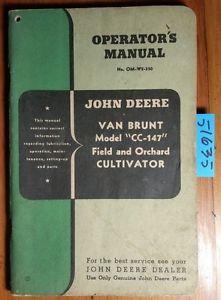 John Deere Van Brunt CC-147 Field & Orchard Cultivator ...
