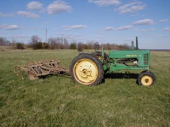 1952 John Deere B & John Deere Field Cultivator ...