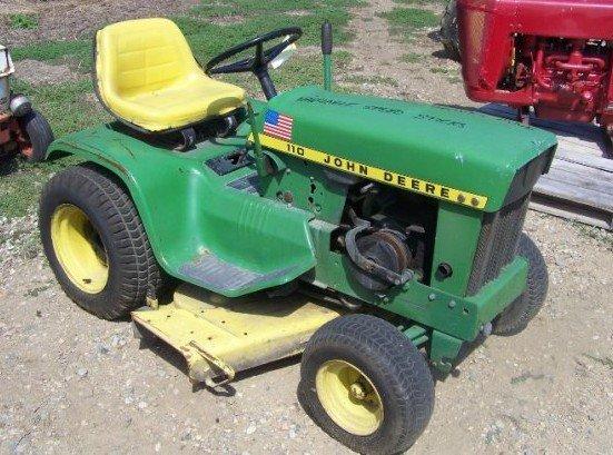 JOHN DEERE 110 112 LAWN AND GARDEN TRACTOR Service Repair ...