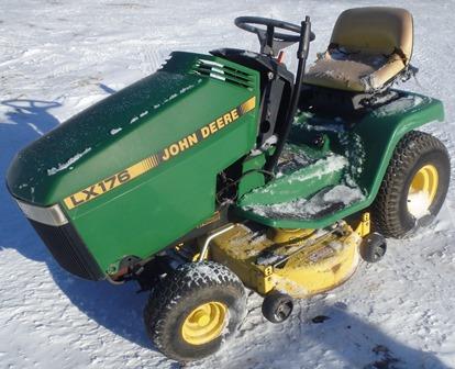 John Deere LX176 Tractor Kawasaki FC420V 14hp Engine ...