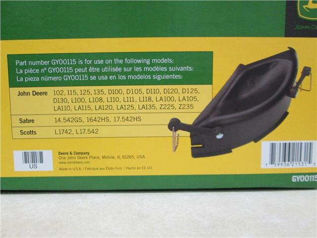 John Deere GY00115 Mulch Cover Fits 100, D, L, and LA ...