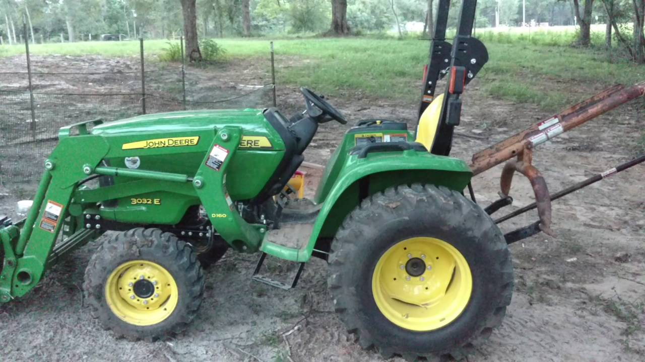 John Deere 3032e first review 76hrs - YouTube