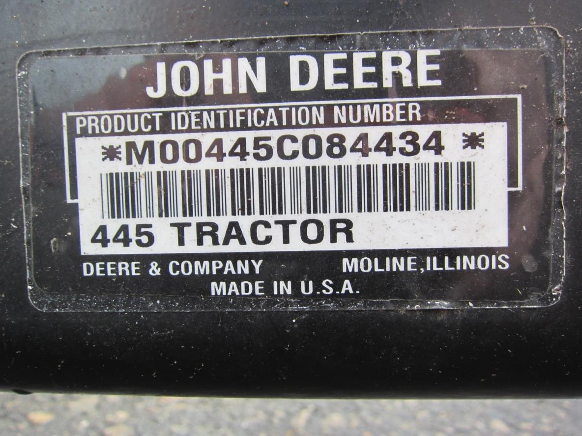 John Deere 445 Fuel Injection Module Cover M115445