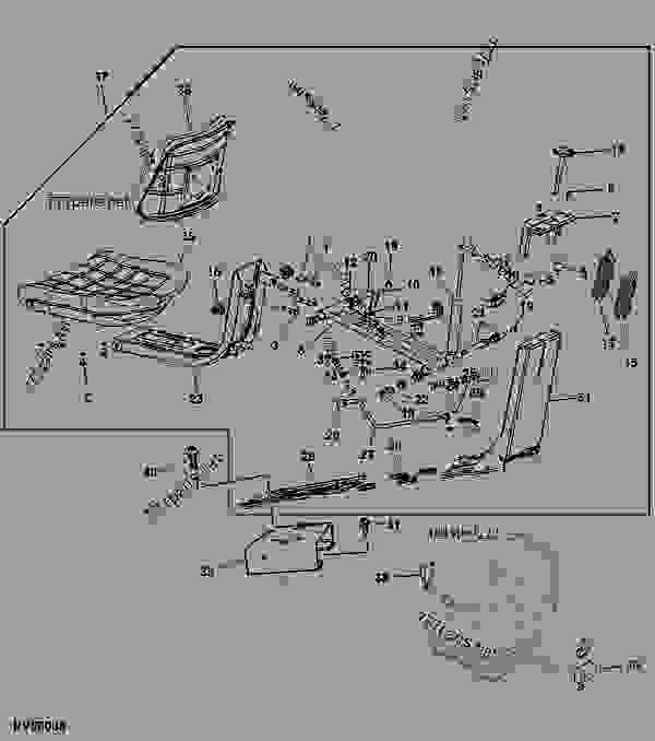 SEAT - TRACTOR John Deere 5303 - TRACTOR - 5303 (PY5303E ...
