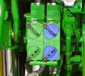 Hydraulics, open-center, pressure compensated (PC) - 21.1 gpm