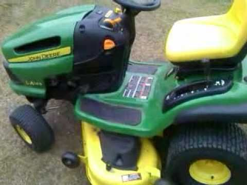 NEW JD John Deere LA145 Lawn Tractor - YouTube