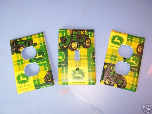 Light Switch Plate/Outlet Covers w/ John Deere by snazzyetc
