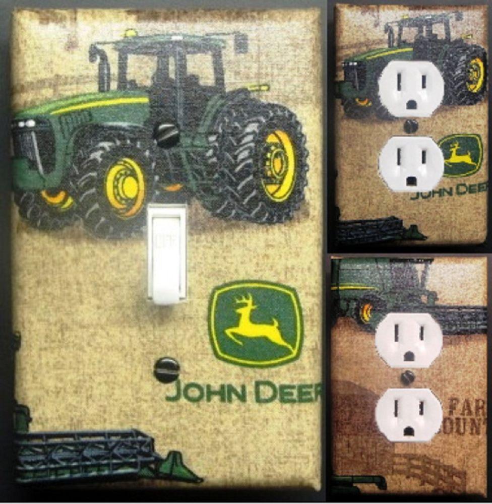 John Deere Custom Light Switch Wall Plate Covers Man Cave ...