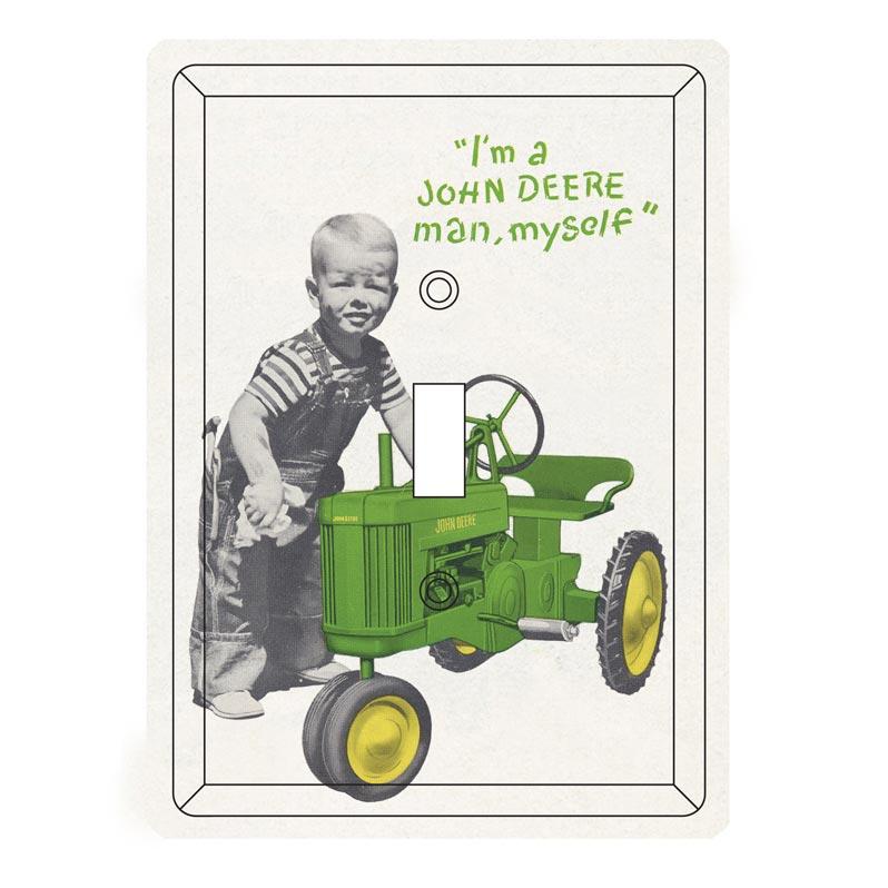 John Deere Single Light Switch Plate Cover